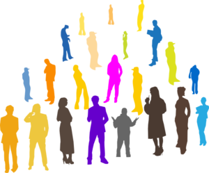 People Line Clipart.