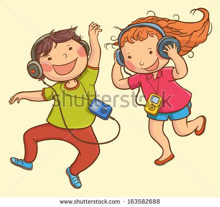 Listening To Music Stock Vectors, Images & Vector Art.