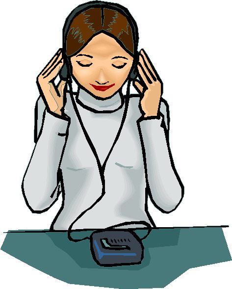Best Listening to Music Clipart #28037.