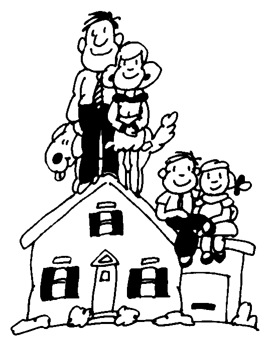 To live in a house clipart.
