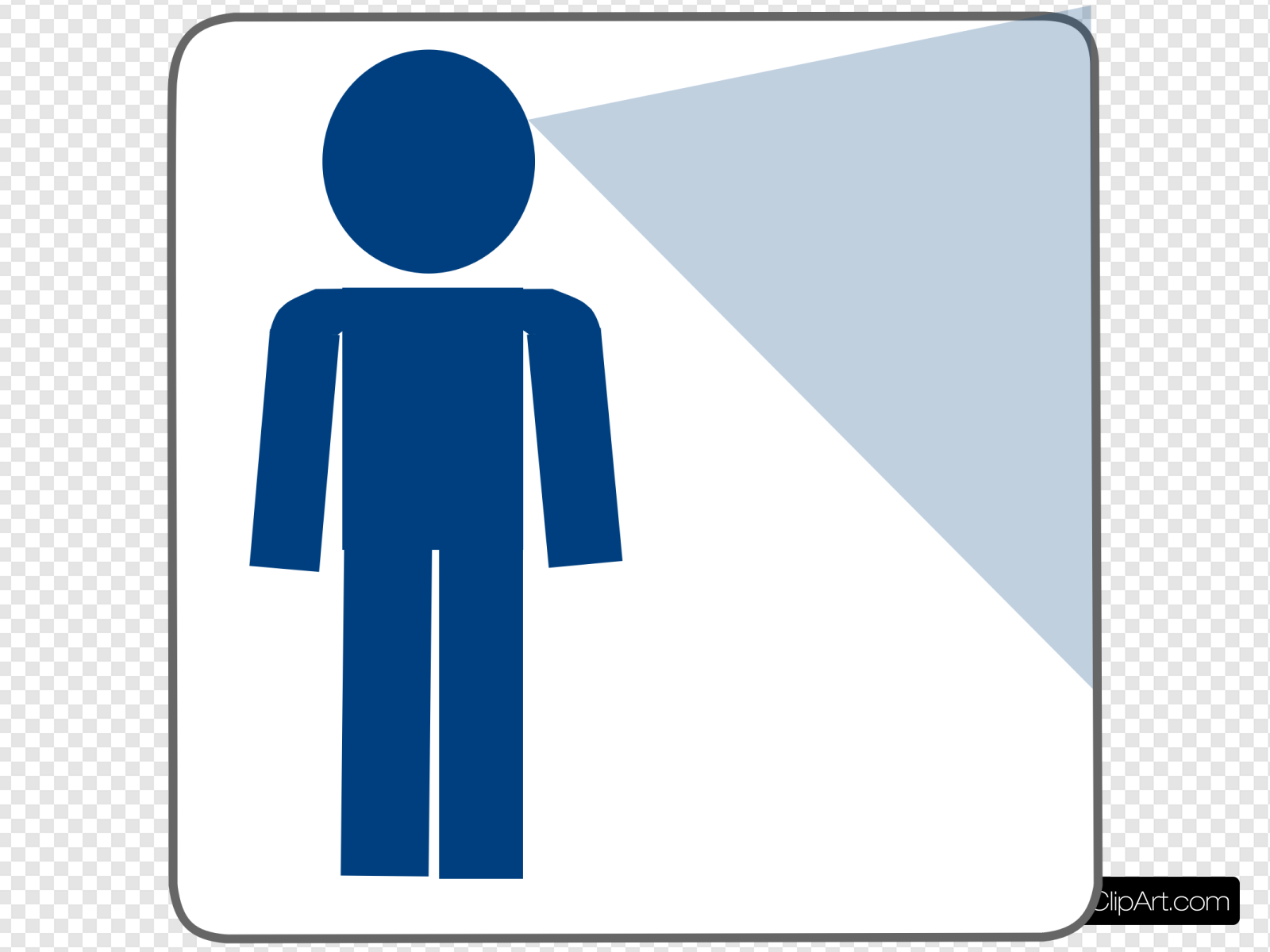Man Blue Looking Clip art, Icon and SVG.
