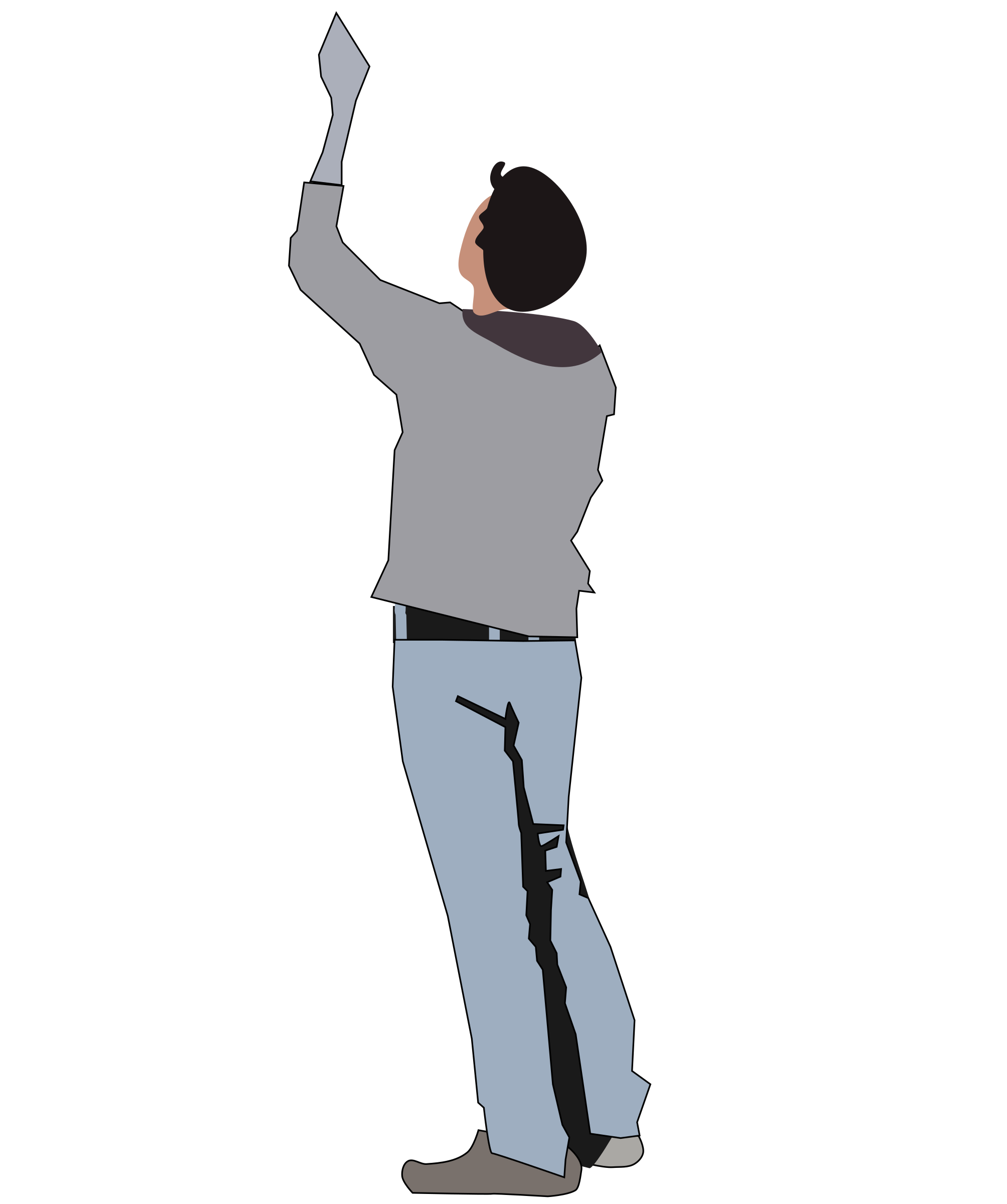 Clipart Person Looking Up.