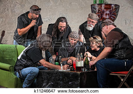 Picture of Gang Making Plans k11246647.