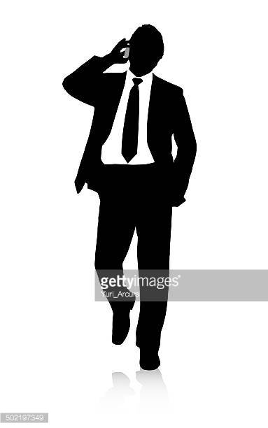 People On Cell Phones Walking Clip Art Stock Illustrations And.