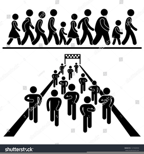 Black People Marching Clipart.
