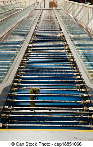 Stock Image of People Mover Escalator Repair.