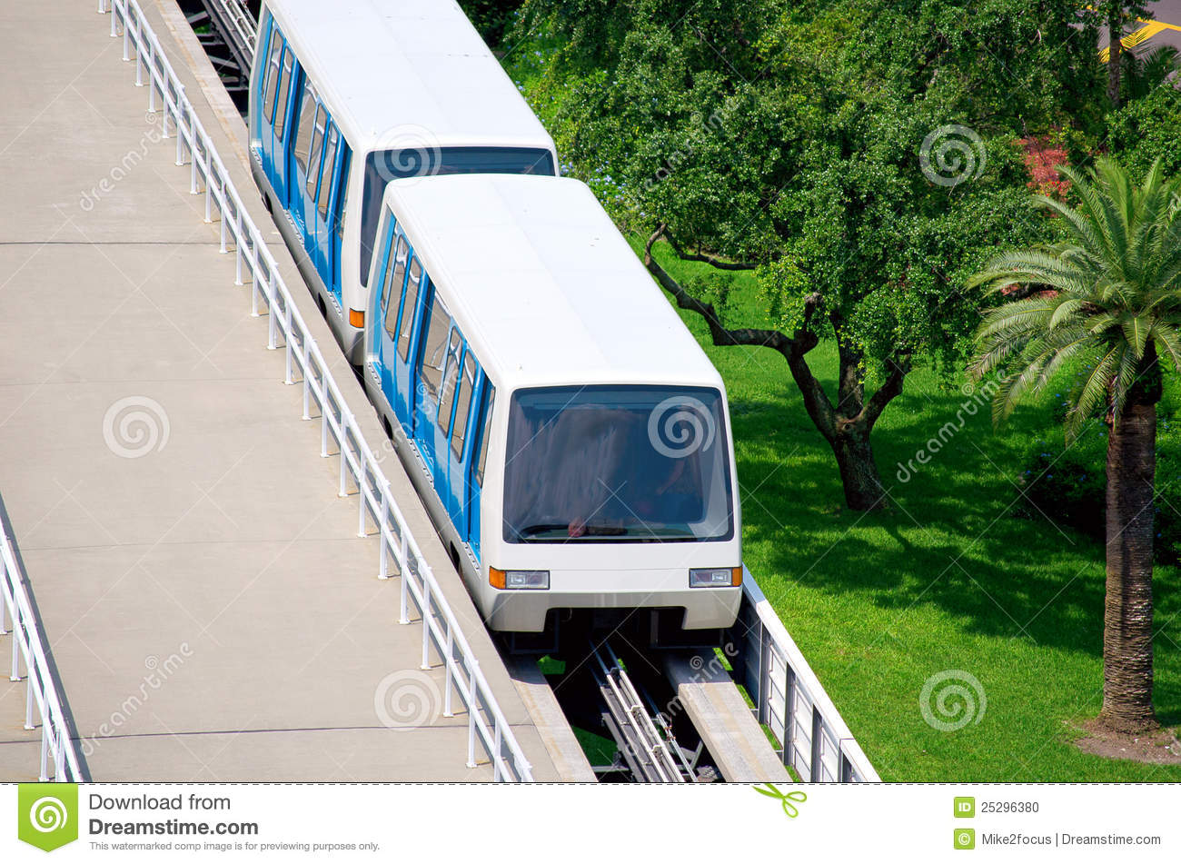 Trolley People Mover Tram At Airport Stock Photo.