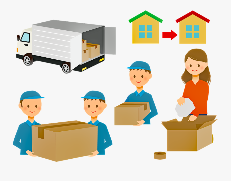 Drawing Of People Moving Houses , Free Transparent Clipart.