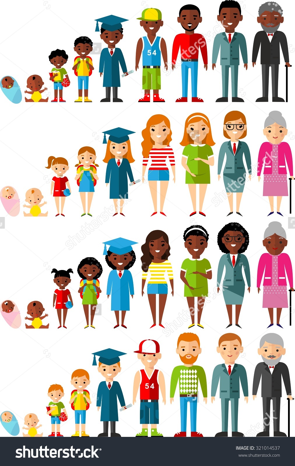 People Of All Ages Clipart.