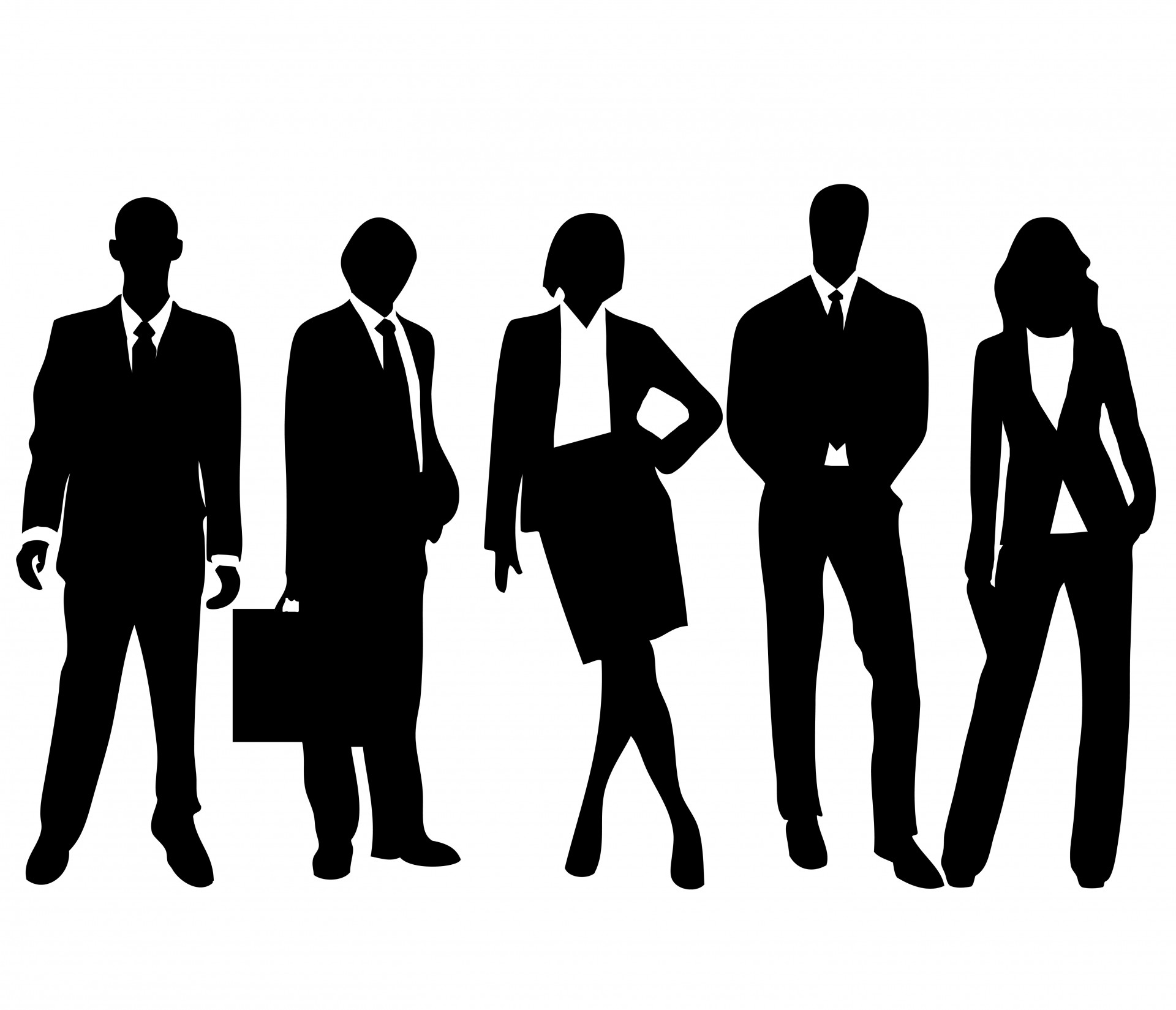 People of color clipart black and white.