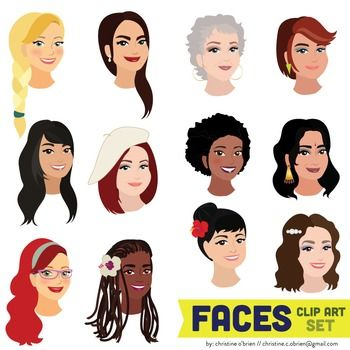 People of color clipart.