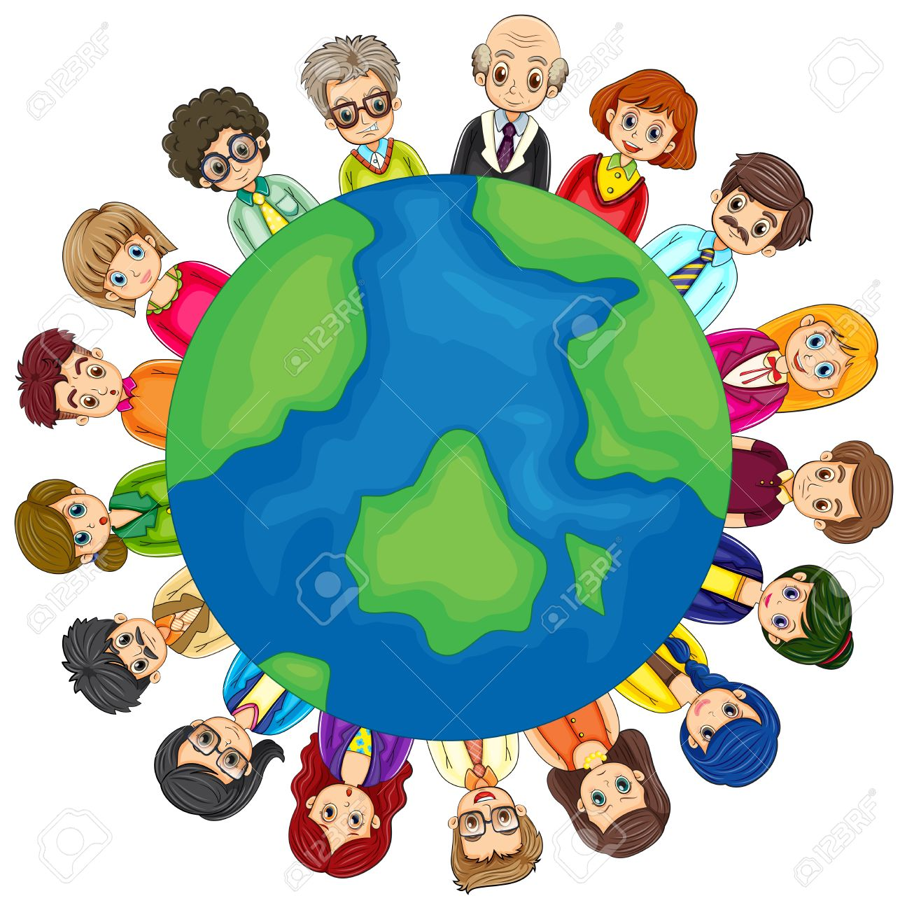 Clipart People Around The World.