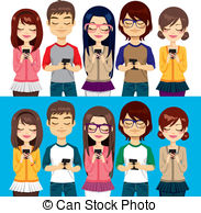 People phone Vector Clipart Illustrations. 51,830 People.