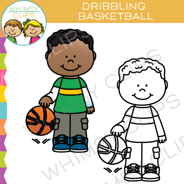 Kids playing basketball clip art , Images & Illustrations.
