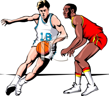Playing Basketball Clipart#2117410.