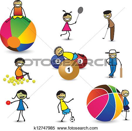 Clipart of an illustration of friends playing basketball.
