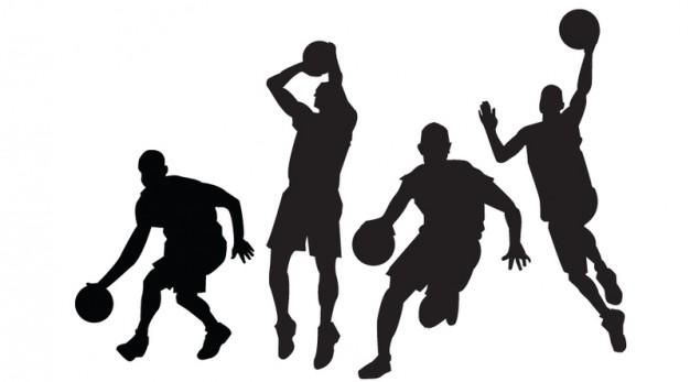 Basketball Players Vectors Vector.