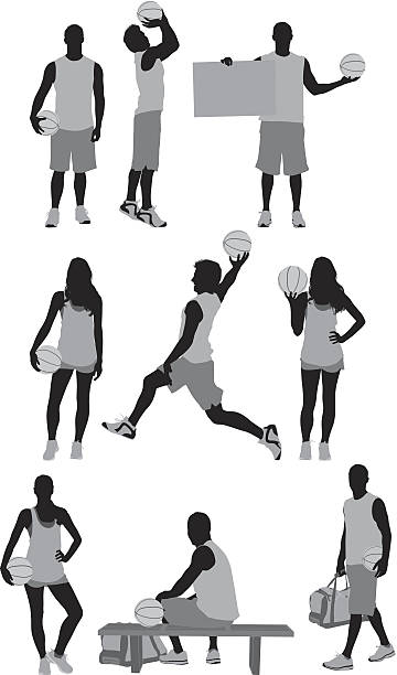 Holding Basketball Clip Art, Vector Images & Illustrations.