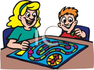 Playing Board Games Clipart Free.