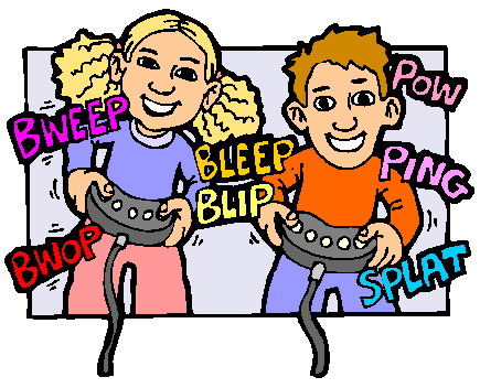 People Playing Games Clipart.