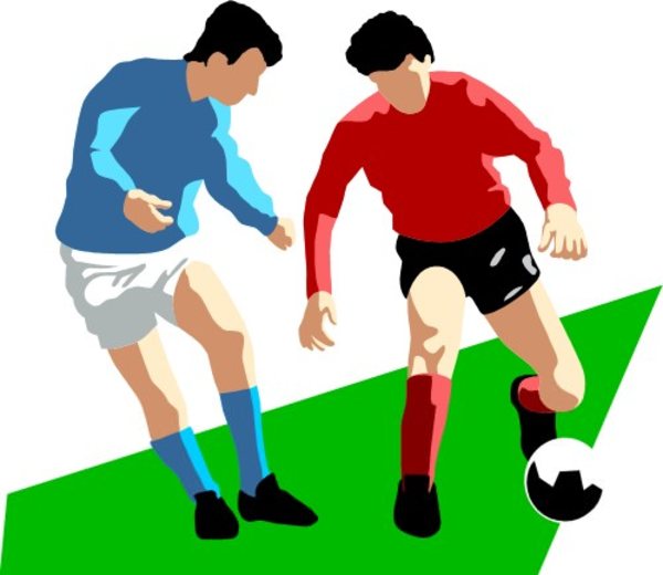 Person Playing Soccer Clipart.