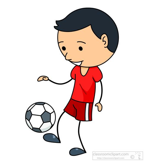 Someone Playing Soccer Clipart.