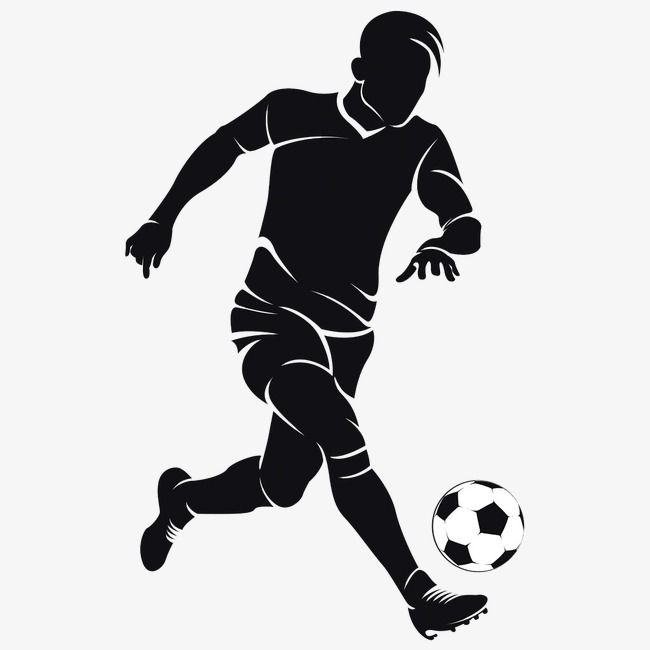Silhouettes Of People Playing Football, People Clipart.