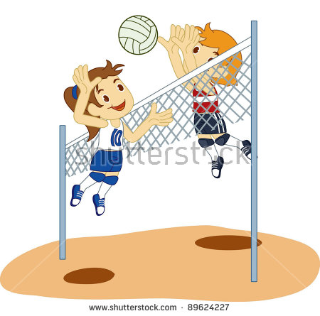 Volleyball Cartoon Stock Images, Royalty.