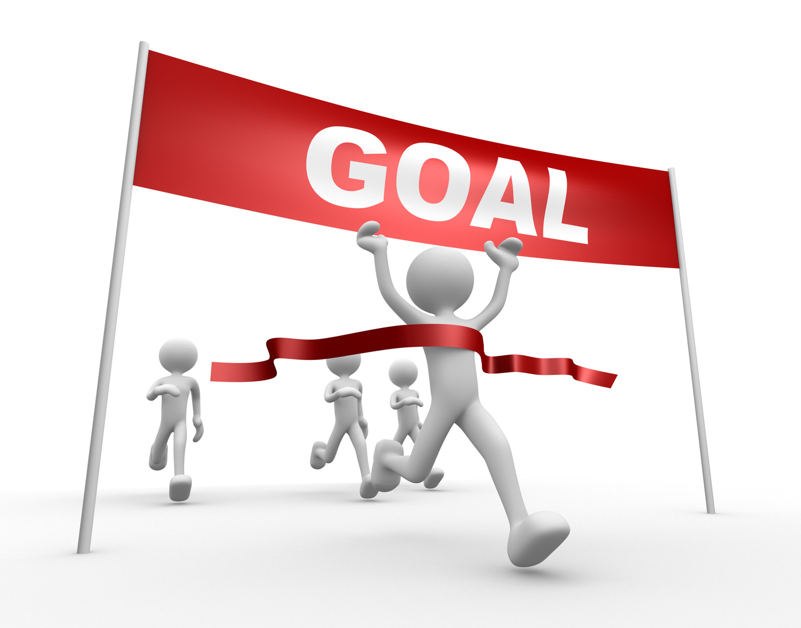 People Set Goals Differently Clipart.