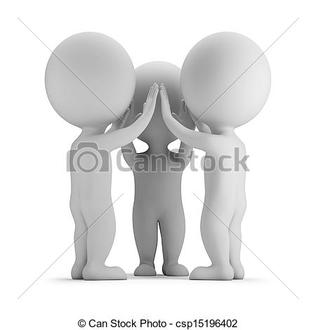 Stock Illustration of 3d small people.