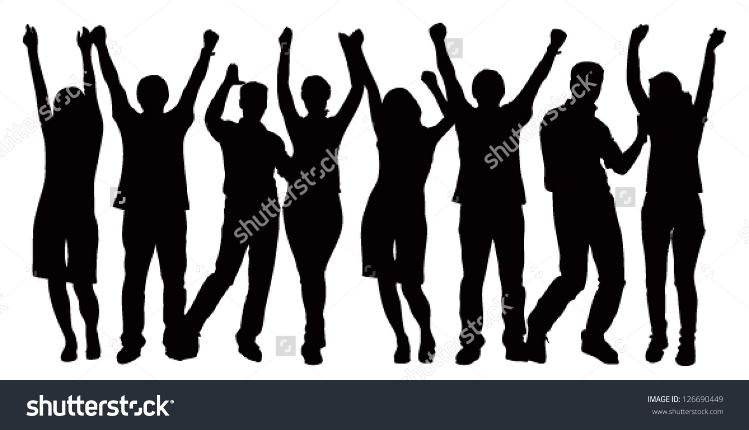 Large Group People Celebrating Vector Image Stock Vector 126690449.