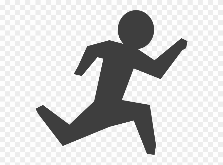 Person Running Clipart.