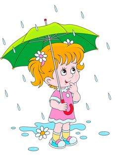 People In The Rain Clipart.