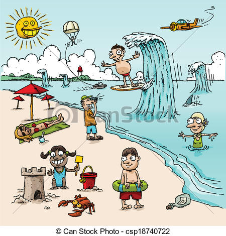 Beach scene Illustrations and Clipart. 5,397 Beach scene royalty.