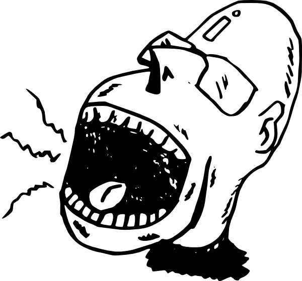 Screaming Person clip art Free vector in Open office drawing.
