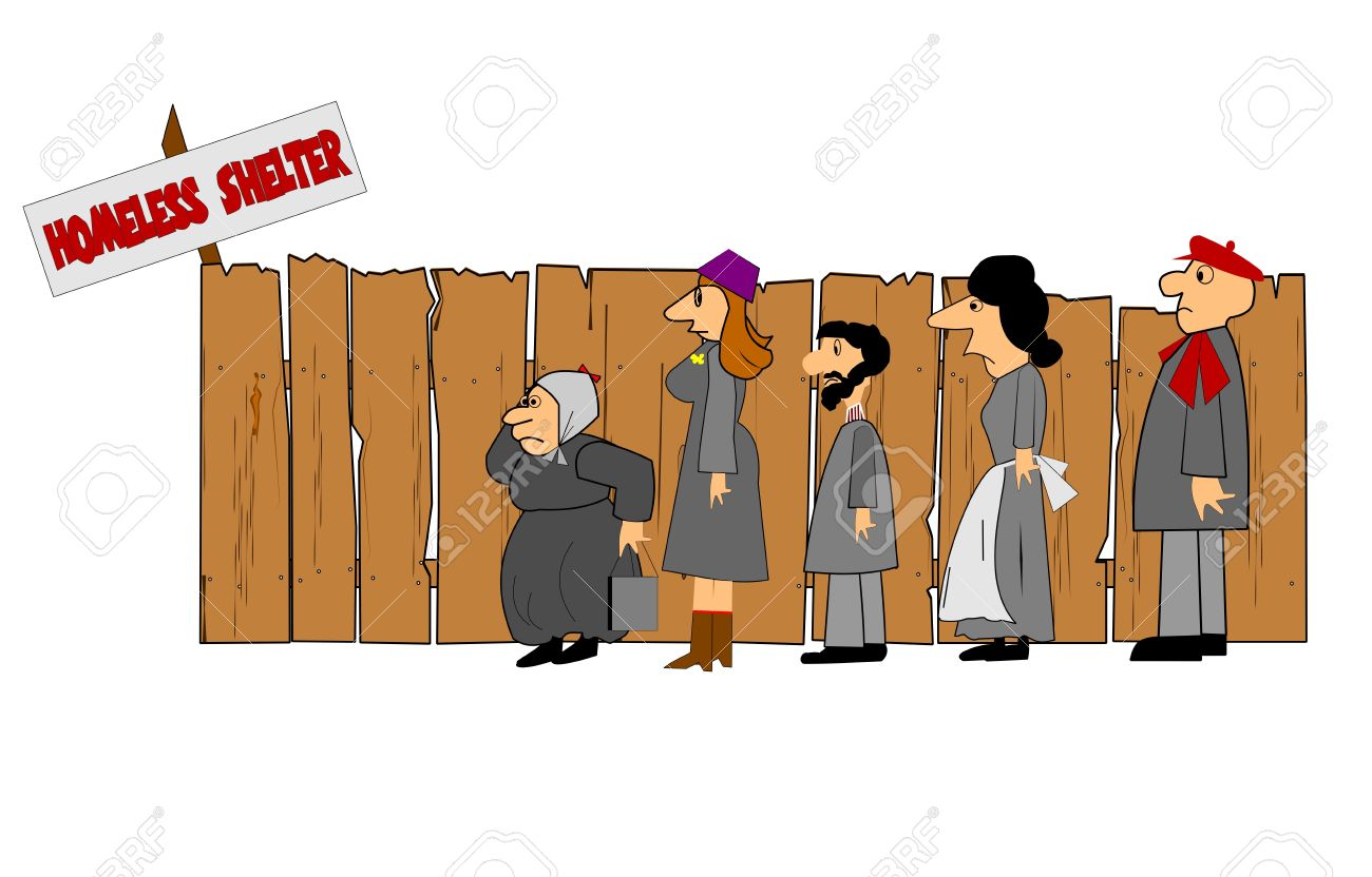 Shelter for homeless people clipart.