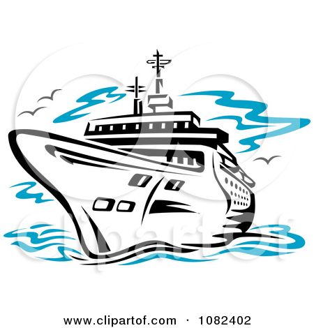 Clipart people on a cruise ship.