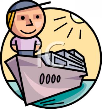 Cartoon Character on a Cruise Ship.