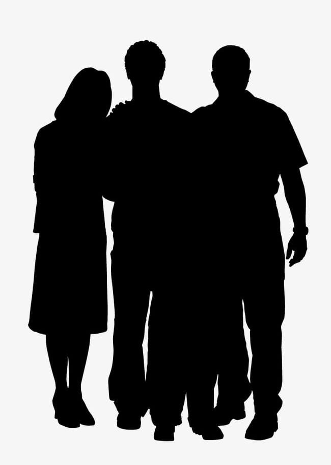 Silhouette Figures PNG, Clipart, Adult, Back Lit, Black.