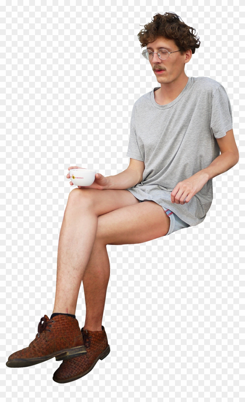 Sitting Coffee Png Image.