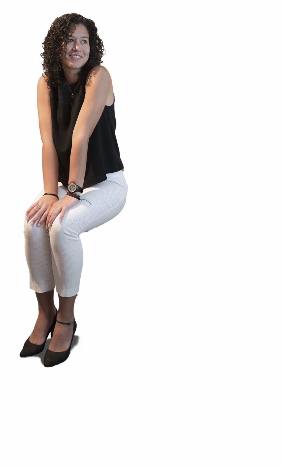 High Res Free People Cutouts Nice Lady Sitting Png.