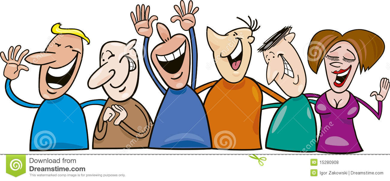People Talking And Smiling Clipart.