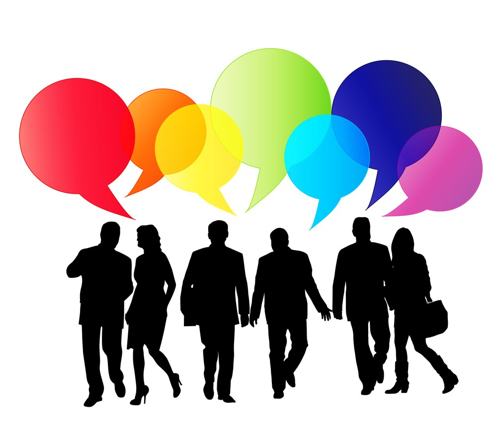People speaking clipart 6 » Clipart Portal.
