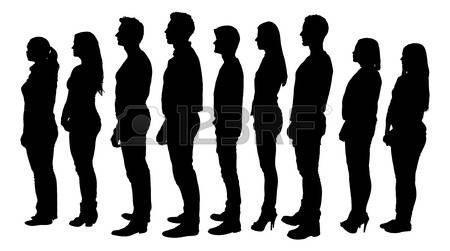 People Standing In Line Stock Photos & Pictures. Royalty Free.