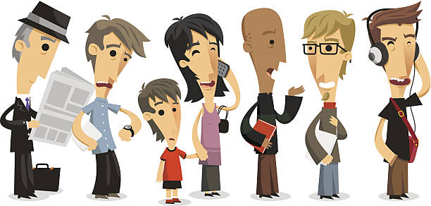People Waiting In Line Clip Art, Vector Images & Illustrations.