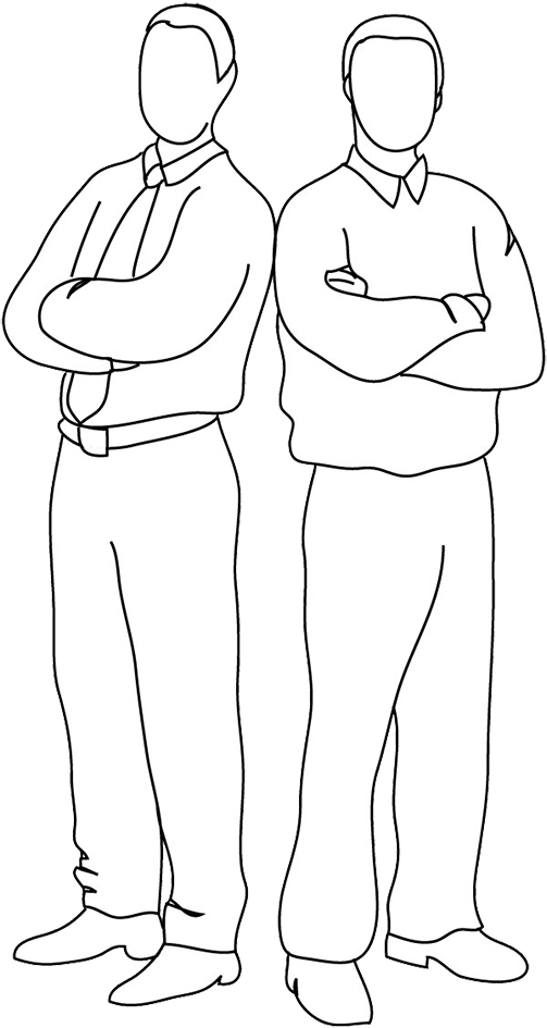 Download HD Two People Standing Back To Back Clipart.