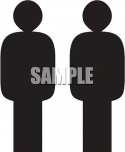 People Standing Clipart.