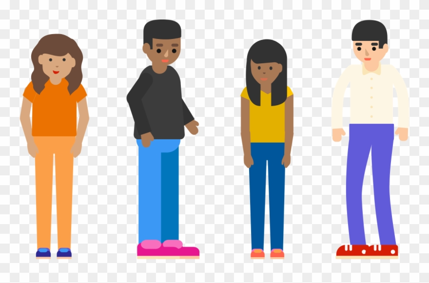 4 People Standing Clipart (#594042).