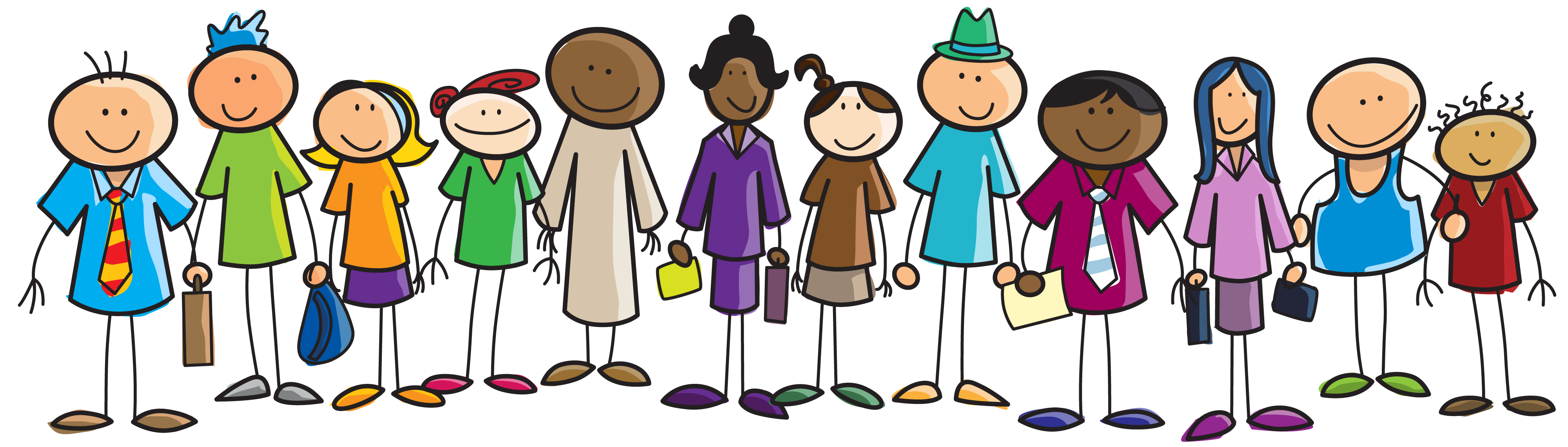 Line Of People Clipart.