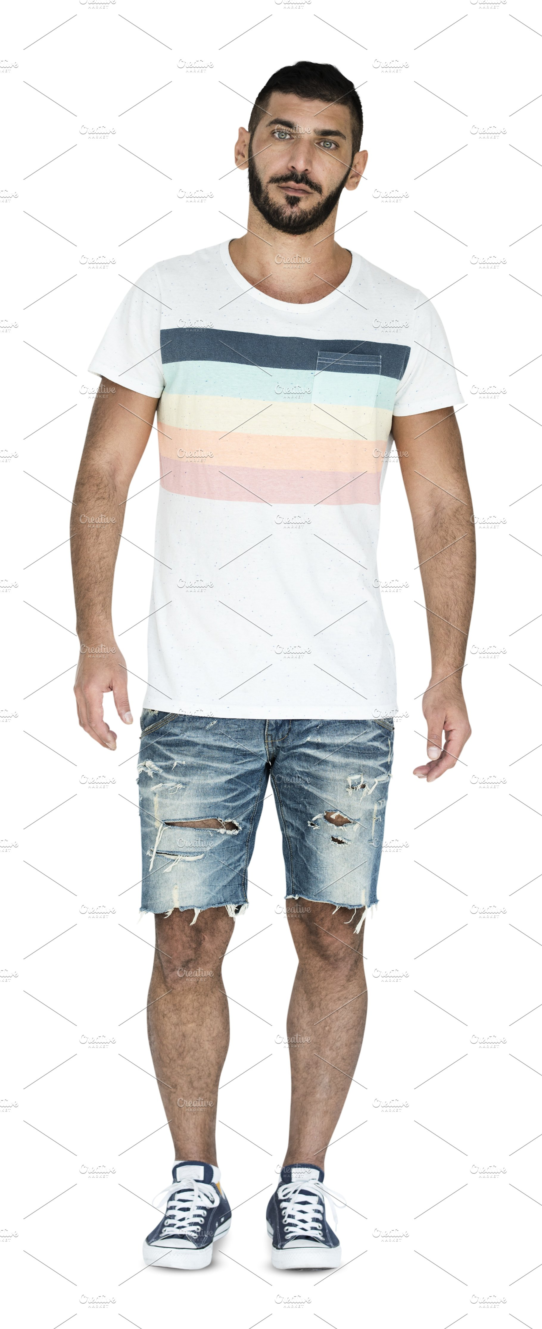 Casual man is standing (PNG).